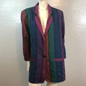 Angelique Striped Boyfriend Blazer Unlined